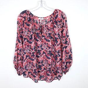 Joie Silk Floral Tie Blouse